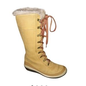 Timberland Wheat Picudilla Leather Fur Boots 18325